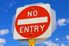 Signe rond aucune entrée photo stock