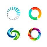 Signe rond différent Logo Set de cercle Photographie stock libre de droits
