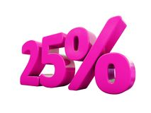 Signe rose de 25 pour cent Illustration Stock
