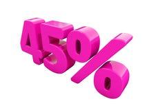 Signe rose de 45 pour cent Illustration Stock