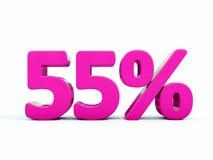 Signe rose de 55 pour cent Photographie stock libre de droits