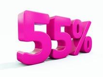 Signe rose de 55 pour cent Photos stock