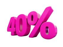Signe rose de 40 pour cent Illustration Stock
