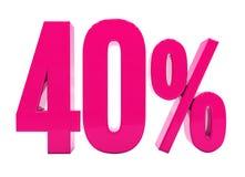 Signe rose de 40 pour cent illustration libre de droits