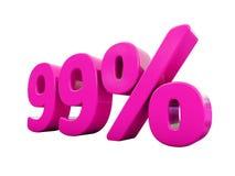 Signe rose de 99 pour cent Images stock