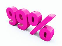 Signe rose de 99 pour cent Photo stock