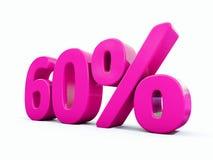 Signe rose de 60 pour cent illustration stock