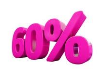 Signe rose de 60 pour cent illustration de vecteur