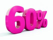 Signe rose de 60 pour cent illustration libre de droits