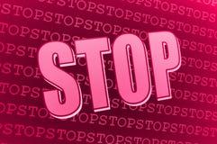 Signe rose rouge d'arrêt Photographie stock libre de droits