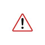 Signe rouge d'exclamation - panneau routier de triangle de danger Photo libre de droits