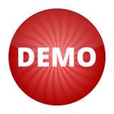 Signe rouge de démo, bouton, icône Photo libre de droits