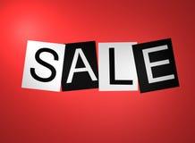 Signe rouge de vente Photo stock