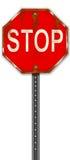 Signe rouillé d'arrêt illustration de vecteur
