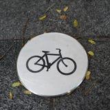 Signe - route pour la bicyclette, Singapour Image stock