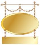 Signe s'arrêtant d'or Photos libres de droits
