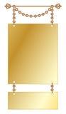 Signe s'arrêtant d'or de cru Photos libres de droits