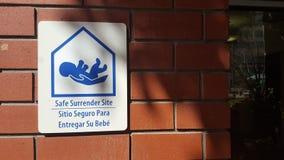 Signe sûr de site de bébé d'abandon Image libre de droits