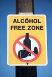 Signe sans alcool de zone Photographie stock libre de droits