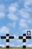 Signe sans issue de circulation ferroviaire de train de cul-de-sac, Photographie stock libre de droits