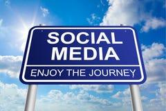 Signe social de médias Images stock
