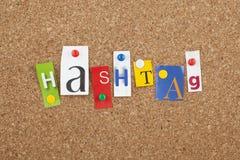 Signe social de media de Hashtag Photo stock