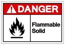 Signe solide inflammable de symbole de danger, illustration de vecteur, isolat sur le label blanc de fond EPS10 illustration de vecteur
