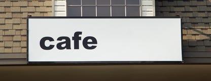 Signe solitaire de café Images libres de droits