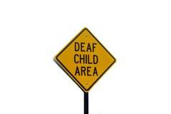 Signe sourd de zone d'enfant Photos libres de droits