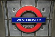 Signe souterrain de Londres Image libre de droits