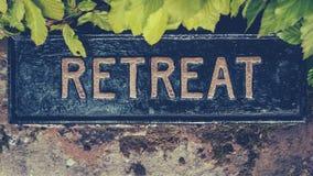 Signe spirituel de retraite images stock