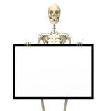 Signe squelettique un Photographie stock libre de droits