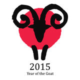 Signe stylisé d'horoscope Illustration d'une RAM Images stock