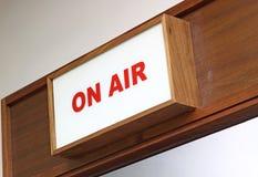 Signe «sur air» Photo libre de droits