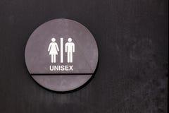 Signe unisexe de toilettes Images stock