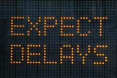 Signe urbain d'embouteillages Photo libre de droits