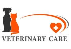 Signe vétérinaire avec l'endroit pour le texte Photo stock