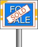 Signe vendu illustration libre de droits