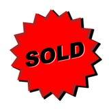 Signe vendu Photo stock