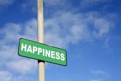 Signe vert de bonheur Image libre de droits