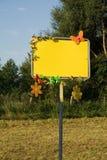 Signe vide décoré Image libre de droits