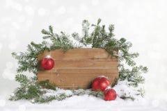 Signe vide de Noël photo stock