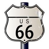 Signe vide de Route 66 Photo libre de droits