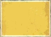 Signe vide en métal de vintage pour le texte ou les graphiques Rétro fond vide de vecteur Couleur jaune illustration de vecteur