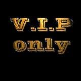 signe VIP de réservation d'or Photographie stock