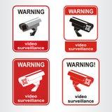 Signe visuel de surveillance illustration de vecteur