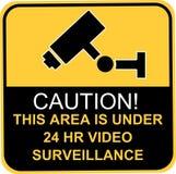 Signe visuel de surveillance Image libre de droits