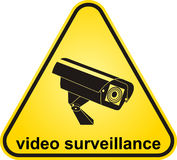 Signe visuel de surveillance illustration libre de droits