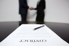 Signed contract Royalty Free Stock Photography
