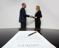 Signed contract Stock Photography